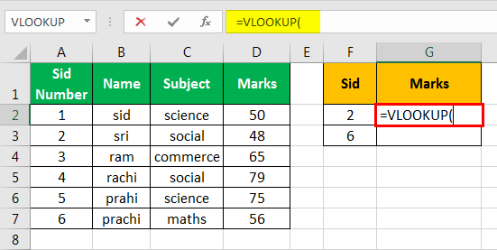 vlookup examples in excel 1
