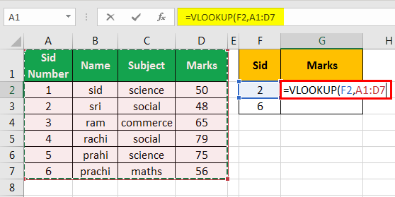 vlookup examples in excel 1-3