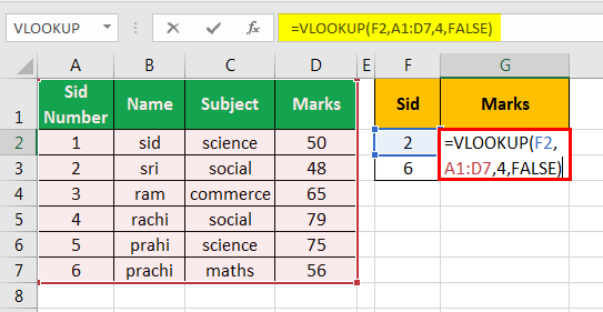 vlookup examples in excel 1-5
