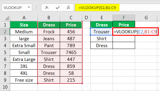 vlookup examples in excel 2-3