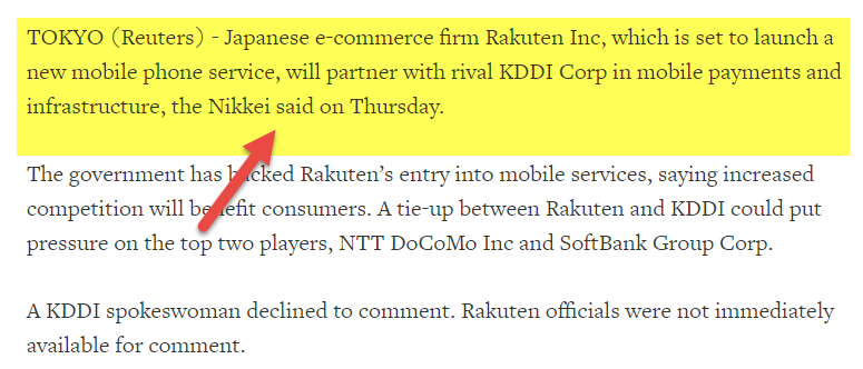 Advantages of Joint Venture KDDI Rakuten