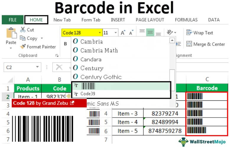 Barcode in Excel