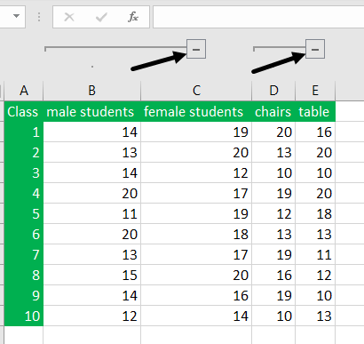 Grouping rows and Columns in excel