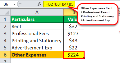Other Expenses Example 1
