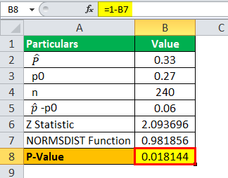 P-value Example 2.3