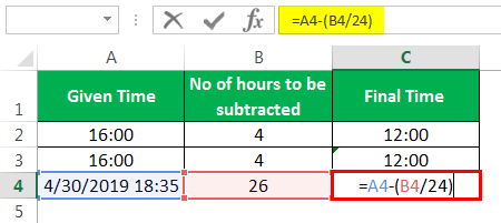 Subtract time Example 3-3