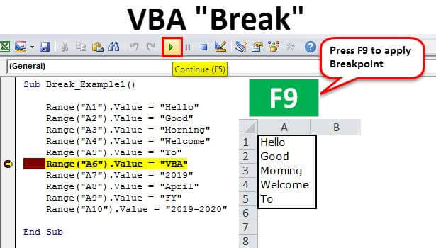 VBA-Break