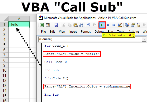 VBA Call Sub (Step by Step Guide) | How to Call Subroutine in Excel VBA?