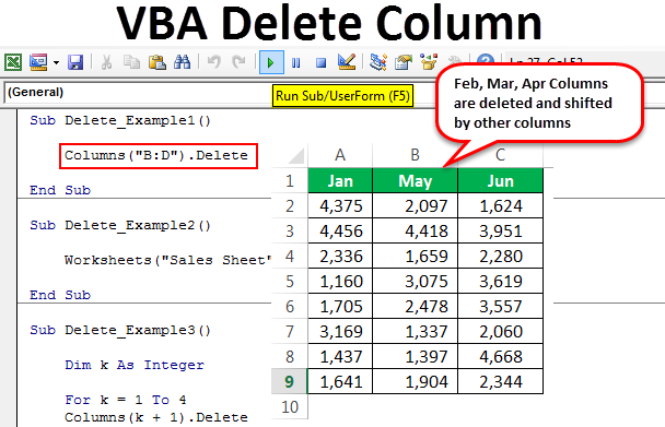 VBA Delete Column