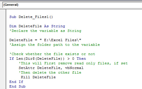 VBA Delete File | How to Delete Files in the Folder using