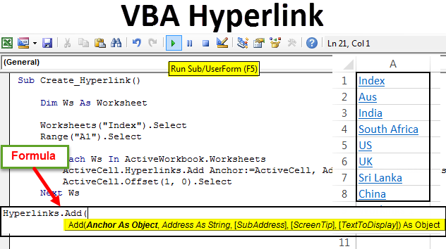 VBA Hyperlink