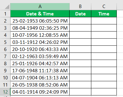 Extract Date & Time Example 3