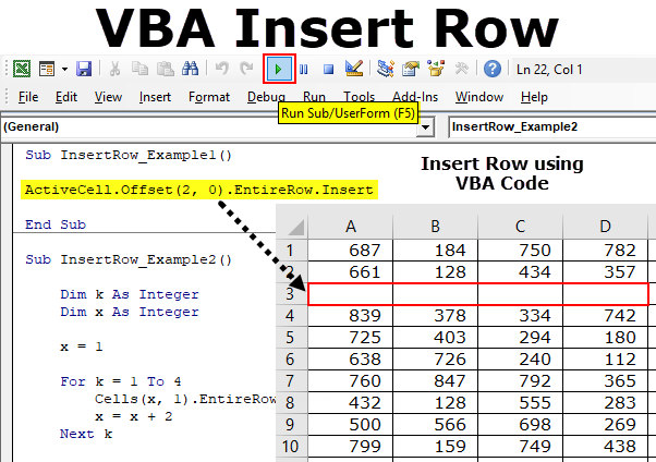 VBA Insert Row (Example, Code) | Top 5 Excel VBA Method to ...