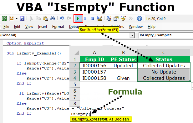 VBA IsEmpty | How to Use VBA IsEmpty Function? (Examples)