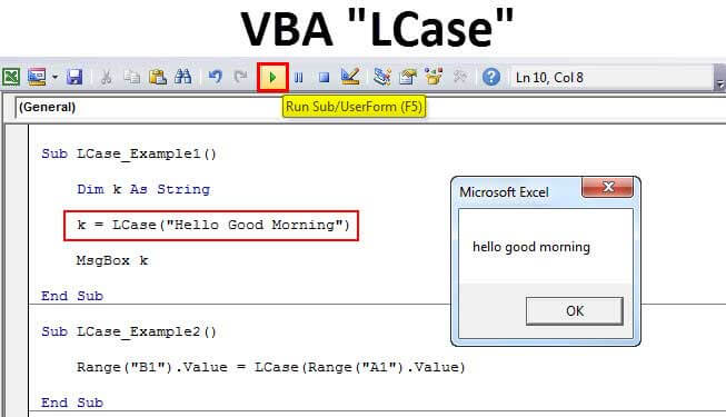 VBA LCase Function | How to Convert Text to Lowercase in ...