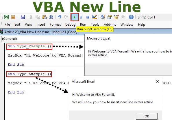 VBA New Line (Step by Step) | How to Insert New Line in VBA