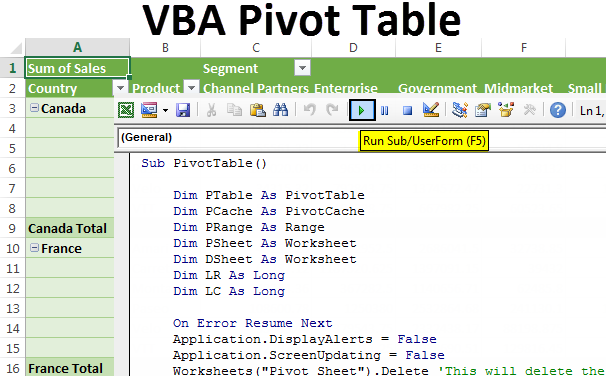 VBA Pivot Table | How to Create Pivot Table using VBA Code