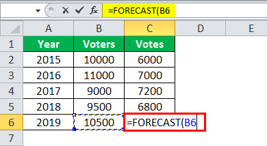 fc formula in excel example 2.3