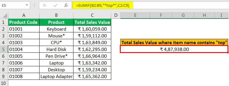 sumif with multiple criteria example 3.3