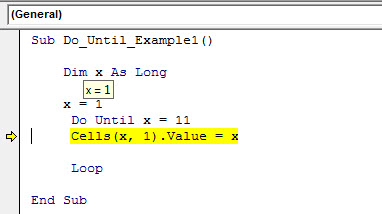 vba do until example 1.11