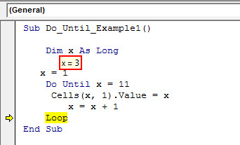 excel vba do until loop - example 1.17