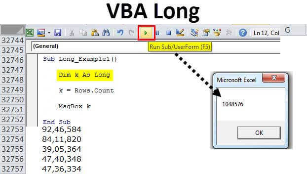 VBA Long (Example) | Step by Step Guide to Long Data Type in Excel VBA
