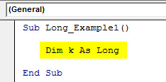 vba long example 1.1