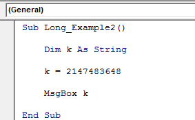 vba long data type example 3.1