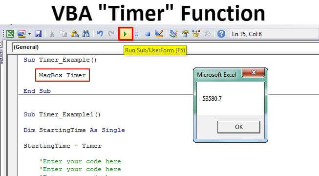 VBA Timer Excel | Step by Step Examples to Use VBA Timer ...