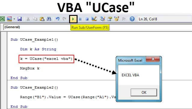 VBA UCase Function | How to Convert Text to Uppercase in ...
