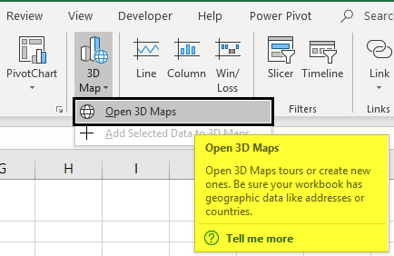 3D Maps Excel Example 1-2