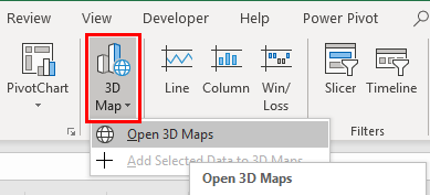 3D Maps Excel Example 2-3