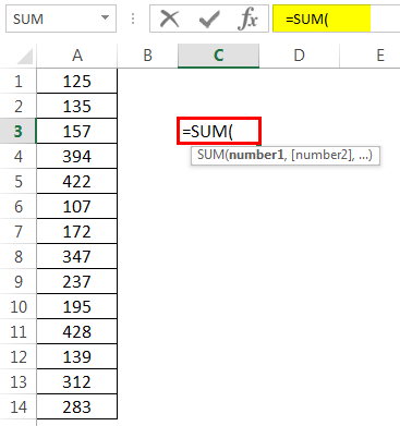 How to Sum Multiple Rows in Excel Example 1-1
