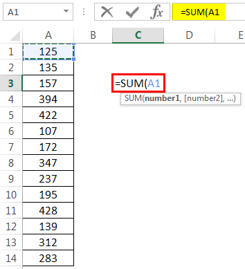 How to Sum Multiple Rows in Excel Example 1-2