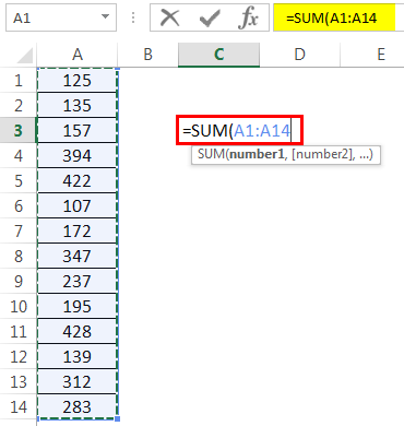 How to Sum Multiple Rows in Excel Example 1-3