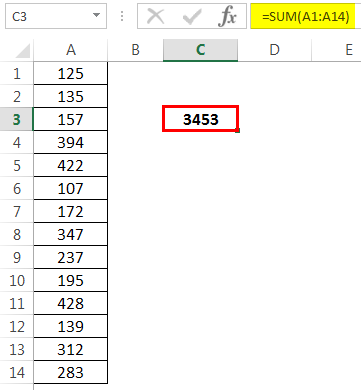 How to Sum Multiple Rows in Excel Example 1-4