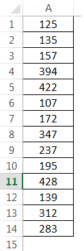 How to Sum Multiple Rows in Excel Example 1