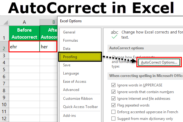 Autocorrect in Excel