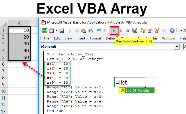 VBA Arrays in Excel | How to Work with Arrays Function in VBA?