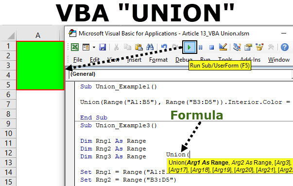 VBA Union Method | How to Join Multiple Ranges Using Excel VBA Union?