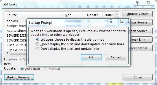 startup prompt
