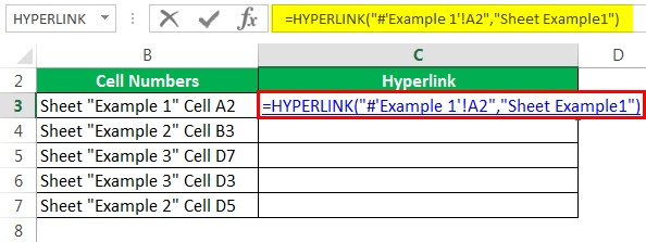 Hyperlink Formula Example 4-1