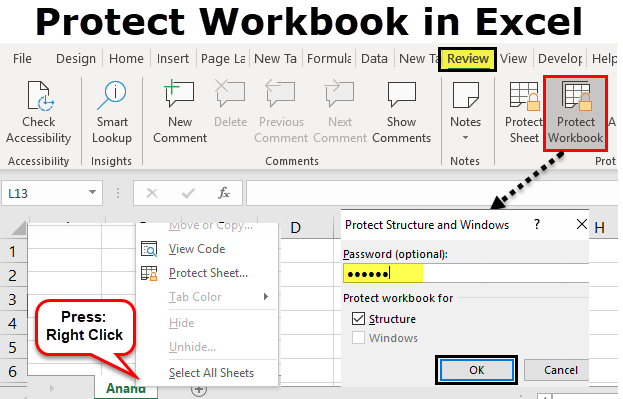 Protect Workbook in Excel | How to Password Protect an Excel ...