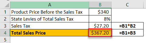 Sales Tax Example 1