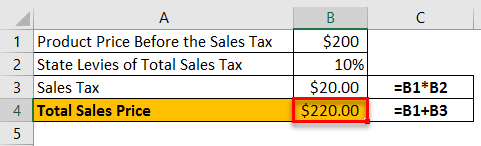 Sales Tax Example 2