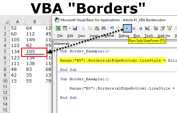 VBA Borders (Step by Step Guide) | How to Set Borders with Excel VBA?