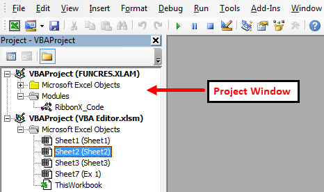 visual basic editor in excel VBE step 3