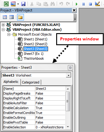 visual basic editor in excel VBE step 4