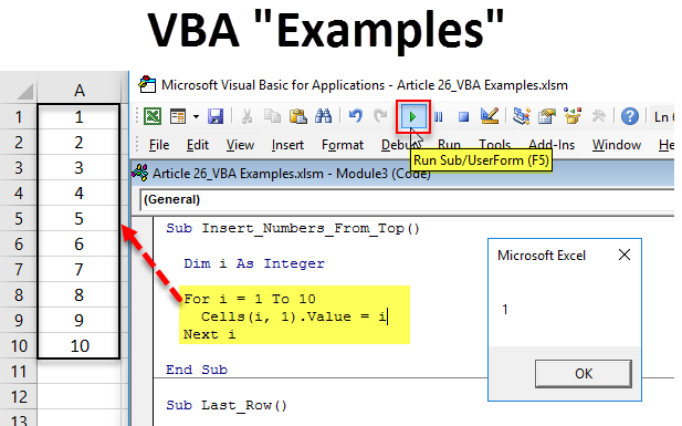 Examples of VBA Code | Top 19 VBA Macro Excel Examples for ...