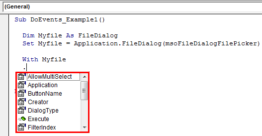 VBA FileDialog Example 1-1